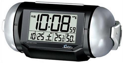 PYXIS (ピクシス) 目覚まし時計 スーパーライデン デジタル 電波時計 大音量