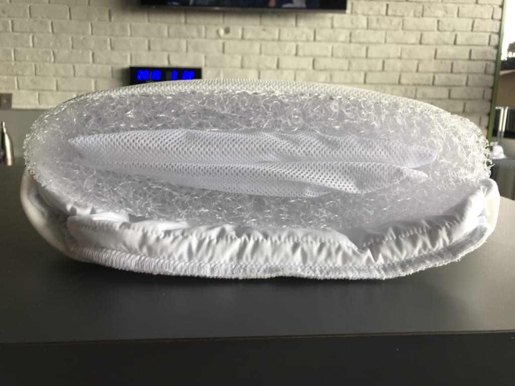 エアウィーヴの枕の中にみっちりエアファイバー